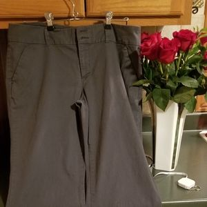 Old Navy grey gray boot cut cotton slacks